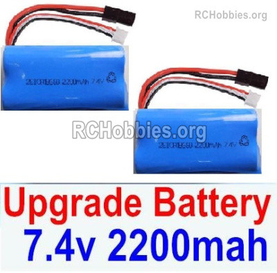 Subotech BG1525 Upgrade Battery Packs Parts, 2S 7.4V 2200mah Lipo Battery. Total 2pcs. DZDC01. Run More time and more power.